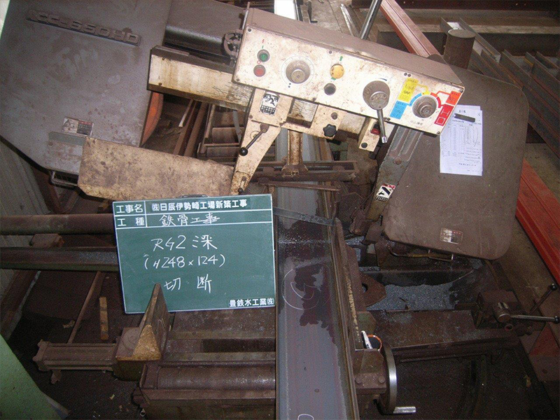 鉄骨工事(自社工場 加工状況)