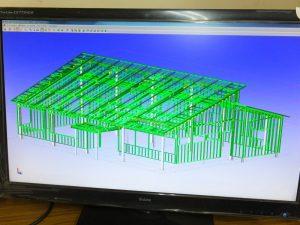 鉄骨専用3Dキャドによる施工図作成