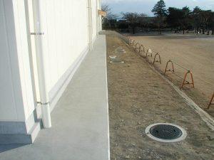 屋外排水設備工事(体育館新築工事)