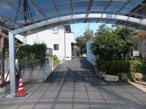 敷地内舗装工事およびカーポート(施工後)