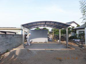 ブロック塀およびカーテンゲート設置